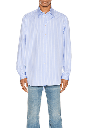 Gucci Oversized Striped Cotton Shirt in Azure & White - Blue,Stripes. Size 46 (also in 50,52).