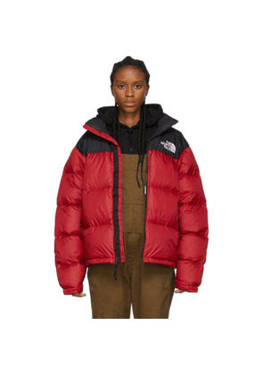 The North Face Red and Black Down 1996 Retro Nuptse Jacket