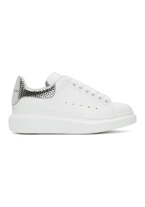 Alexander McQueen White and Silver Oversized Sneakers