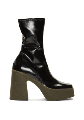 Stella McCartney Black Chunky Ankle Boots