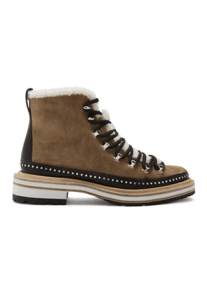 rag and bone Tan Suede Compass Boots