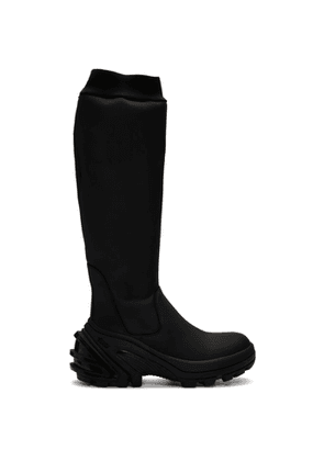 1017 ALYX 9SM Black Fixed Sole Knee Boots