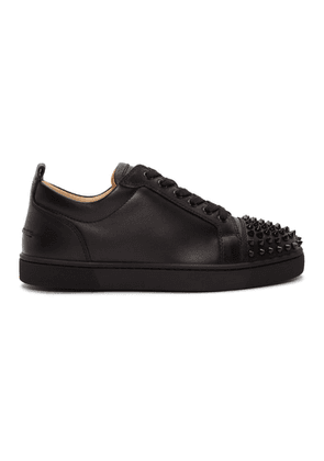 Christian Louboutin Black Louis Junior Spikes Sneakers