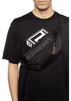 Burberry Branded Belt Bag Men's Black