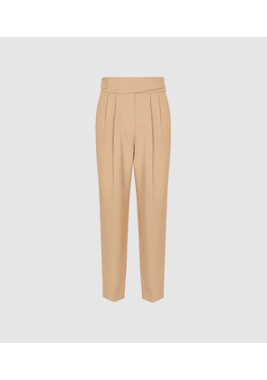 Reiss Camber - Pleat Front Trousers in Neutral, Womens, Size 4