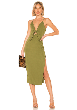 House of Harlow 1960 x REVOLVE Gail Dress in Olive. Size L.