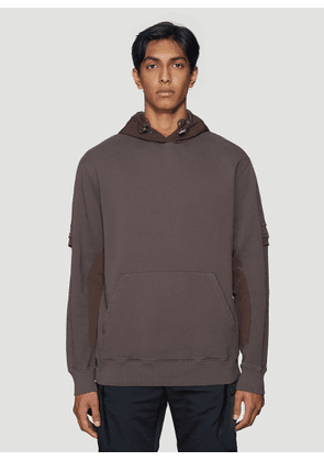 1017 ALYX 9SM Layered Hooded Sweatshirt in Brown size XL