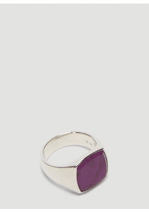 Tom Wood Cushion Sugilite Ring in Silver size 60