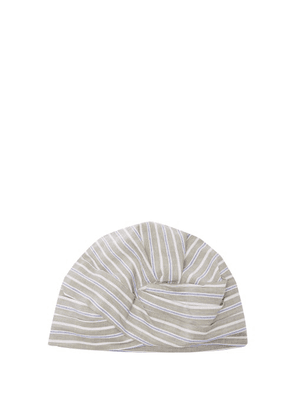 Flapper - Elisabeth Striped-cotton Turban Hat - Womens - Green Stripe