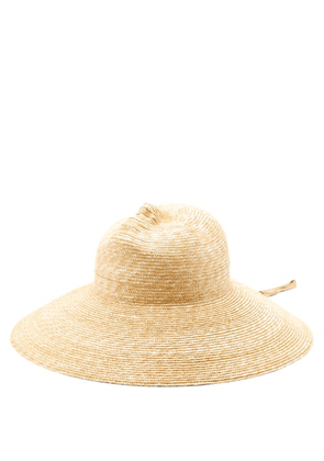 Flapper - Xenia Moulded-face Straw Hat - Womens - Beige