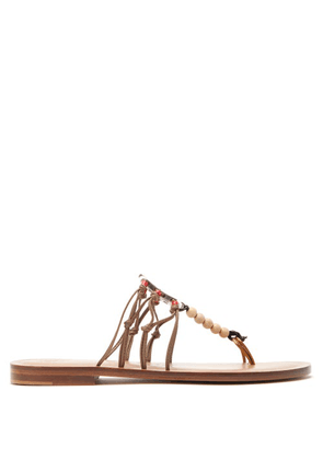 Álvaro - X Kim Hersov Kima Leather Sandals - Womens - Tan