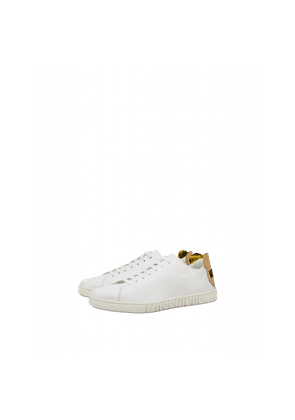 Leather Sneakers With Teddy Patch