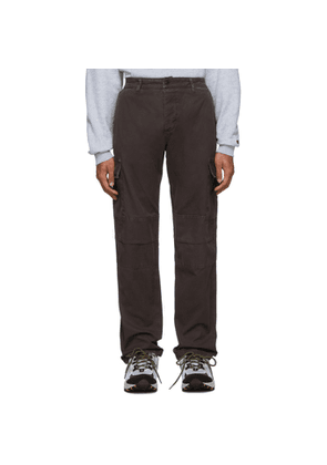 Reese Cooper Brown Cotton Twill Cargo Pants