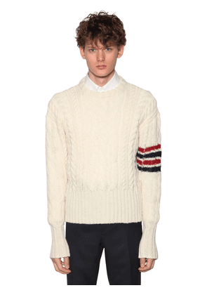 Mohair & Wool Aran Knit Sweater