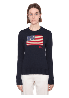 Flag Cotton Knit Sweater
