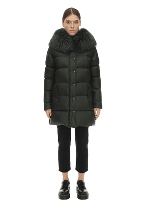Light Microfiber A-line Puffer Coat