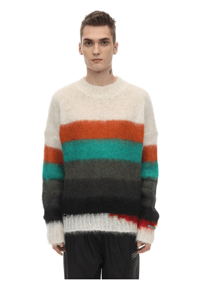 Fragment Mohair Blend Knit Sweater