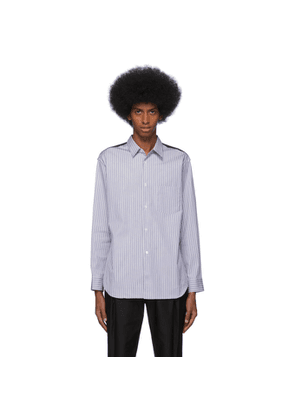 Comme des Garcons Shirt Black and White Stripe Wool and Poplin Shirt