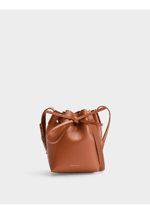 Mini Mini Bucket Bag in Ginger Calfskin