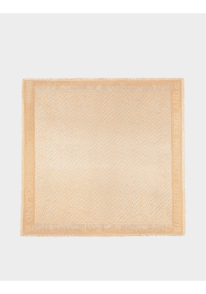TB Monogram Square in Honey Wool and Silk