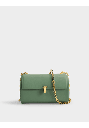 PO Trunk Bag in Green Calfskin
