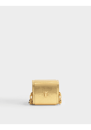 PO Cube Bag in Gold Goatskin