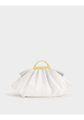 Gabi Mini Bag in White Calfskin