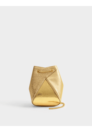 Mani Mini Bucket Bag in Gold Goatskin