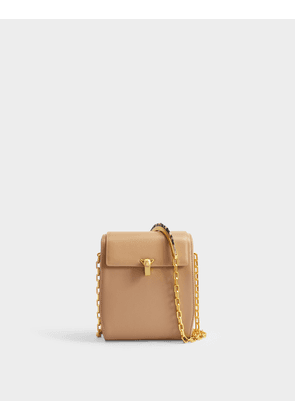 PO Box Bag in Beige Calfskin