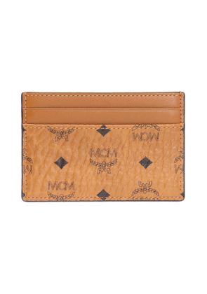 MCM Printed Card Case Unisex Brown