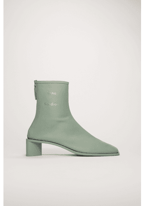 Acne Studios FN-WN-SHOE000111 Pastel green Branded leather boots
