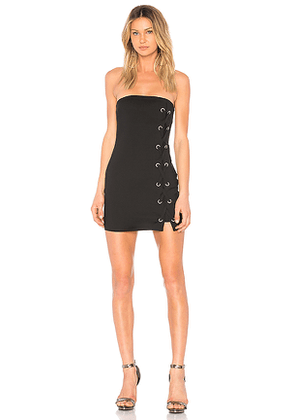 by the way. Tina Lace Up Dress in Black. Size S.