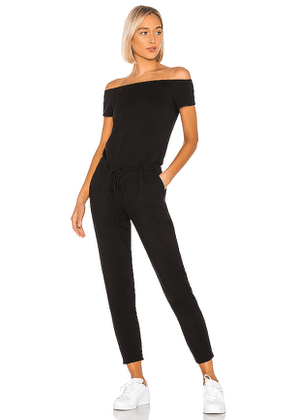 Beyond Yoga Victory Midi Jumpsuit in Black. Size XS.