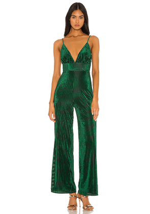 Privacy Please Freya Jumpsuit in Green. Size XS.