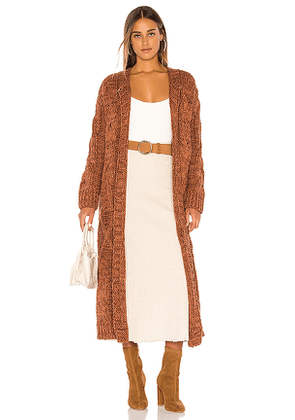 Free People Keep In Touch Cardigan in Brown,Burnt Orange. Size XS,S.