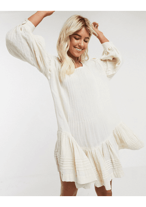 Free People washed ashore mini dress-Cream