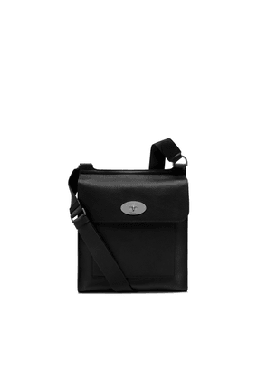 Mulberry Antony Messenger in Black Natural Grain Leather
