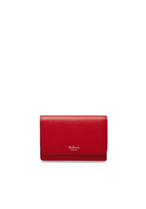 Mulberry Continental Card Holder in Scarlet Small Classic Grain