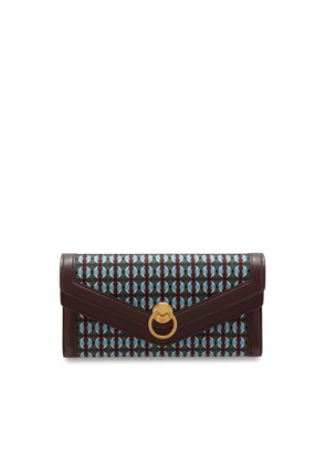 Mulberry Harlow Long Wallet in Dark Moss Printed Nylon Multi-Dots