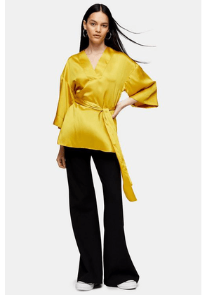Womens **Chartreuse Shell Blouse By Topshop Boutique - Chartreuse, Chartreuse