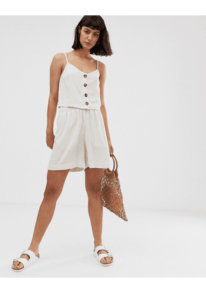 Weekday cami top with button details in beige