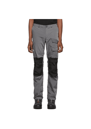 Heliot Emil Grey and Black Technical Cargo Pants