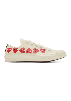 Comme des Garcons Play Off-White Converse Edition Multiple Heart Chuck 70 Low Sneakers