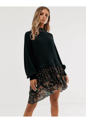 Free People opposite attract mini dress-Black