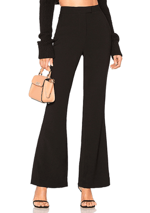 L'Academie Harmony Flared Pants in Black. Size M.