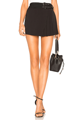 by the way. Xiomara Buckle Pleated Skort in Black. Size S.