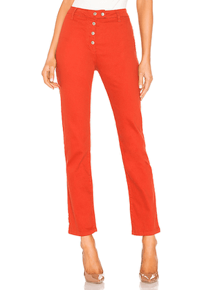by the way. Veronica Snap Front Pant in Rust. Size 26,27,28,29,30.