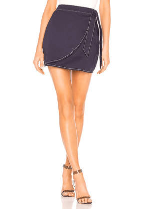 by the way. Maci Wrap Skirt in Navy. Size XS,S,XL.