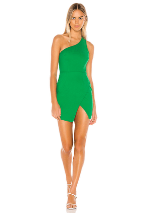 superdown Molly One Shoulder Dress in Green. Size M,L.