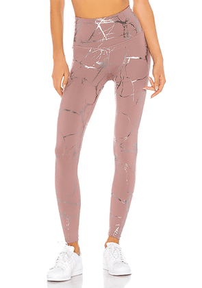 Beyond Yoga Lost Your Marbles High Waisted Midi Legging in Mauve. Size S,M.
